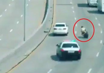 Tragis, Detik-detik Polisi Kejar Pembalap Liar, Malah Hajar Pembatas Jalan