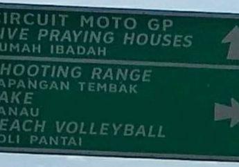 Sentul Kalah Langkah.. Di Palembang Sudah Ada Penunjuk Jalan ke Sirkuit MotoGP
