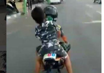 Mirip Pejabat! Video Bocah yang Ditilang Naik MiniGP Dikawal Polisi Sampai Rumah