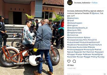 Wuih, Presiden Jokowi Asyik Kumpul Bareng Bikers dan Artis di Sukabumi