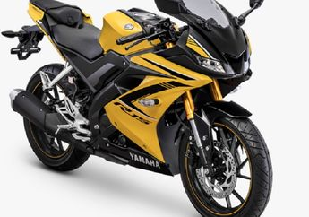 Mantaf Jiwah.. Suspensi Upside Down Yamaha All New R15 Dilabur Warna Emas