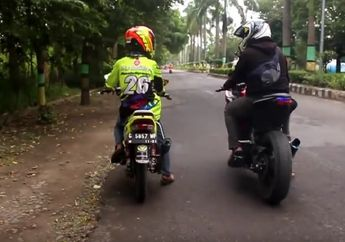 Gokil! Video Balapan Yamaha F1ZR Lawan Ninja 250, Sempat Imbang Tapi Akhirnya Menghilang
