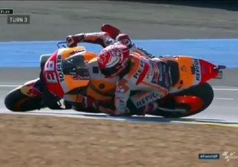 Bocor.. Video Ini Ungkap Cara Latihan Marquez Selamatkan Motornya dari Jatuh di MotoGP Prancis