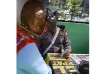 Viral... Video Oknum Polisi Palak Pemotor Perempuan Rp 50 Ribu Karena Takut SIM Ditahan