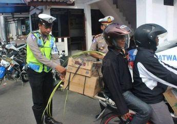 Wah.. Di Jogja Polisi Pasang Janur di Motor Pemudik yang Melanggar, Maksudnya Apa?