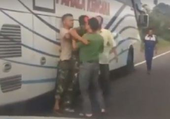 Mengejutkan, Usai Video Sopir Bus Serang Anggota TNI Viral, Ini yang Dilakukan Pihak Pahala Kencana