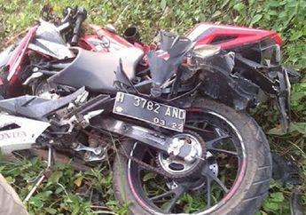 Kejadian Lagi... Honda CBR150 R Hancur Lebur Disundul Kereta Api, Pemotor Enggak Selamat