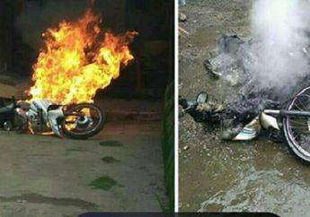 Misterius, Pemilik Curhat Motornya Ludes Terbakar Usai Dicuci, Penyebabnya Masih Belum Terungkap