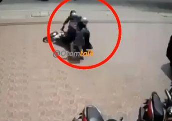 Salut, Video Emak-emak Super Gagalkan Aksi Jambret, Pelaku Gagal Kabur Usai Terjatuh