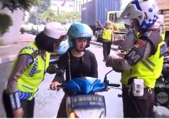Enggak Ditilang Pemotor Cantik Ini Kok Nangis, Polwannya Jadi Bingung