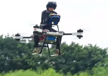 Salut, Pria Desa Ini Sukses Bikin Skuter Terbang Pertama di Dunia, Bentuknya Mirip Drone Raksasa
