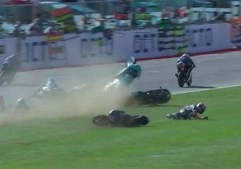 Ngeri, Video Pembalap Moto3 San Marino Terlibat Kecelakaan, Satu Pembalap Sampai Terbang