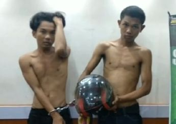Bergaya Seperti Foto Model, Dua Remaja Ini Ternyata Maling Helm yang Diringkus Polisi di Palmerah
