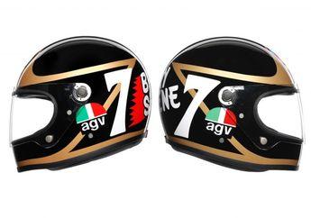 Keren! AGV Keluarkan Helm Dengan Model Jadul Replika Legenda MotoGP