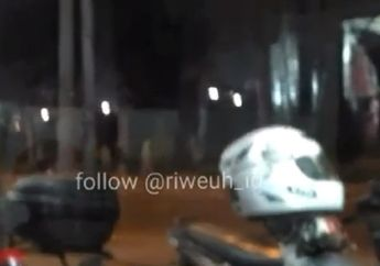 Mencekam, Video Tawuran Antar Geng Motor di Kalimalang Pecah, Dua Remaja  Kena Bacokan