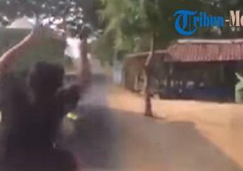 Mencekam, Video Polisi Tembak Mati Begal Karena Melarikan Diri, Darah Berceceran di Aspal