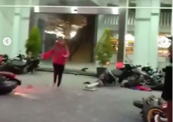 Ngeri, Video Lengkap Gempa di Palu, Puluhan Motor Terbalik dan Berserakan di Jalan, Warga Teriak Allahu Akbar