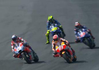 Marc Marquez Mengaku Sengaja Masuk Dalam Taktik Andrea Dovizioso di Akhir Lap MotoGP Thailand