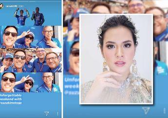 Alex Rins Menang, Kenapa Raisa Ikutan Selfie dan Wara-wiri di Paddock Tim Suzuki Ecstar?