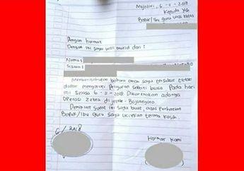 Kocak, Demi Menghindari Operasi Zebra, Pelajar Ini Bikin Surat Izin Enggak Sekolah