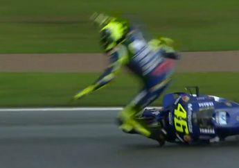 Hasil FP3 MotoGP Valencia: Valentino Rossi  Jatuh Terpelanting, Terlempar Dari 10 Besar
