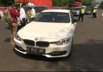 Polisi Razia Mobil Mewah di Cibubur, Pemotor Panik Kocar-kacir Masuk Jalan Tol