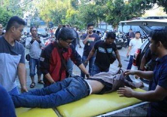 Gak Ada Ampun, Serang Polisi Pakai Badik, Jambret Mati Ditembak Polisi di Depan Gereja Katedral
