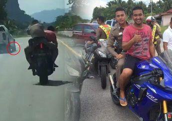 Tegang! Video Bikers Bersandal Jepit Boceng Polisi Ringkus Pelaku Tabrak Lari