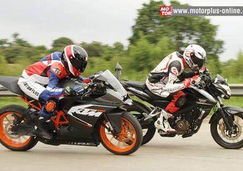 Tes diKTM RC200 VS Kawasaki Pulsar