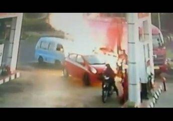 Awas, SPBU Di Salatiga Terbakar Karena Knalpot Racing