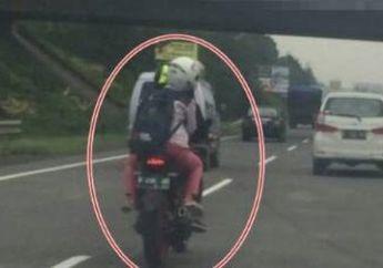 Aksi Nekat Bikers Masuk Jalan Tol Pasteur, Bandung
