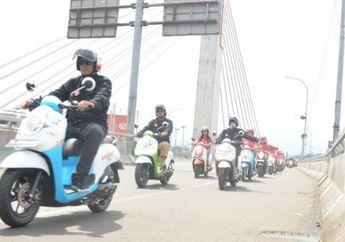 Pakai All Ne Honda Scoopy Keliling Bandung dan Kampanye #Cari_Aman