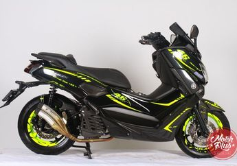 Helm AGV Pista Menular di Modifikasi Yamaha NMAX