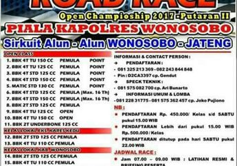 Agenda Road Race Wonosobo 2017