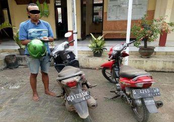 Waspada! Seorang Pengendara Ketiduran Di Halte, Motor Nyaris Raib Digondol Pencuri