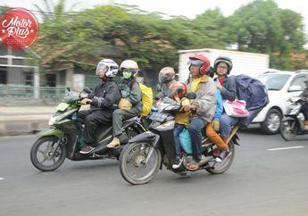 Mudik Lebaran Satu Motor 3 Orang Akan Ditilang
