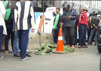 Masuk Jalur Busway, Panik Lihat Polisi, Ojek Online Terlindas Truk