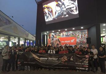 Wahana Honda Ajak Ratusan Komunitas Honda Nonton Bareng MotoGP di booth Honda Jakarta Fair Kemayoran