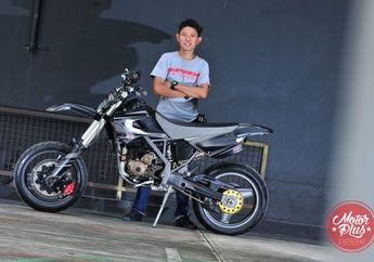 Kawasaki D-Tracker 150 2014 Tampil Beda Pakai Pelek Palang