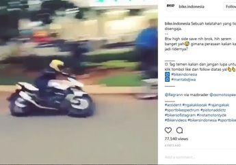 Video Latah Ala Biker Setelah High Side, Bikin Heboh Tuh