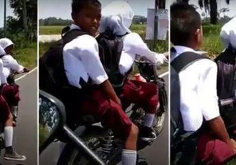 Video 3 Anak SD Naik Motor Tanpa Helm, Kelakuan Jelek Beresiko Nyawa Melayang