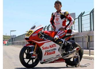 Dimas Ekky Pratama Bersiap Latihan Resmi CEV Spanish Championship Catalunya Spanyol
