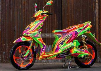 Modifikasi Honda BeAT Bermain Warna Cerah