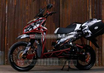 Modifikasi Honda Vario Matic Turing Supermoto