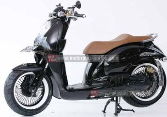 Modifikasi Kaki-Kaki Honda Scoopy Hotrod Retro