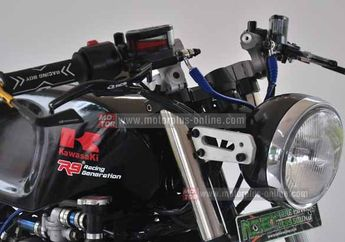 Modifikasi Body Kawasaki Ninja 250R Cafe Racer Display