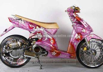 Modifikasi Honda Beat The Lady Luck