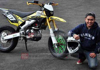 Modifikasi Kawasaki KLX  Nyaman Dipake Harian