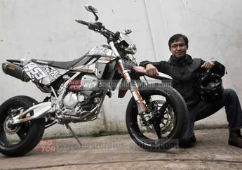 Modifikasi Kawasaki KLX 250 Supermoto Ala Street Fighter