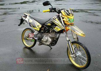 Modifikasi Kawasaki KLX150S Balap Jadi Alay